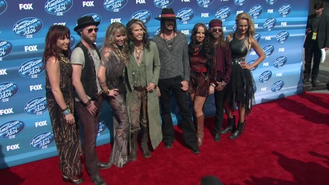 Steven Tyler and Loving Mary at the American Idol XIV Grand Finale Arrivals at Dolby Theatre on May 13 2015 in Hollywood California