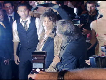 steven tyler and roberto cavalli at the cavalli ny flagship store launch at cavalli flagship store in new york, new york on september 7, 2007. - roberto cavalli stock videos & royalty-free footage