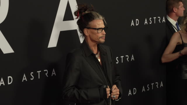 steven tyler at the ad astra special screening at arclight cinerama dome on september 18 2019 in hollywood california - cinerama dome hollywood stock videos & royalty-free footage