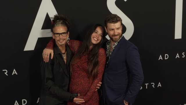 steven tyler chelsea tyler and jon foster at the ad astra special screening at arclight cinerama dome on september 18 2019 in hollywood california - cinerama dome hollywood stock videos & royalty-free footage