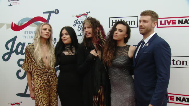Steven Tyler Chelsea Tyler Mia Tyler Aimee Preston at Steven Tyler's 2nd Annual GRAMMY Awards Viewing Party to Benefit Janie's Fund in Los Angeles CA