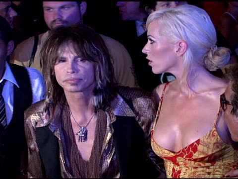 steven tyler erin brady and roberto cavalli at the cavalli ny flagship store launch at cavalli flagship store in new york new york on september 7 2007 - roberto cavalli stock videos and b-roll footage