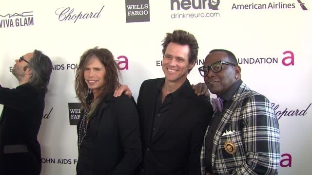 Steven Tyler Jim Carrey Randy Jackson at Elton John AIDS Foundation Presents 21st Annual Academy Awards Viewing Party Sponsored By Chopard Neuro...