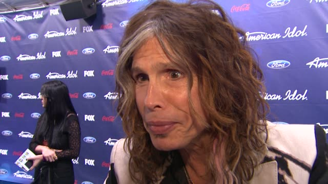 Steven Tyler on tonight's show at Meet The American Idol Judges Finalists on 3/1/2012 in Los Angeles CA