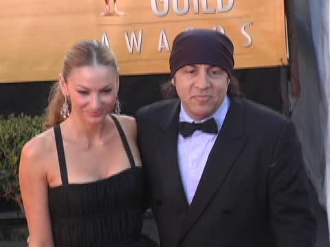 Steven Van Zandt and Drea De Matteo at the The 11th Annual SAG Awards Arrivals BRoll at Shrine Auditorium in Los Angeles California