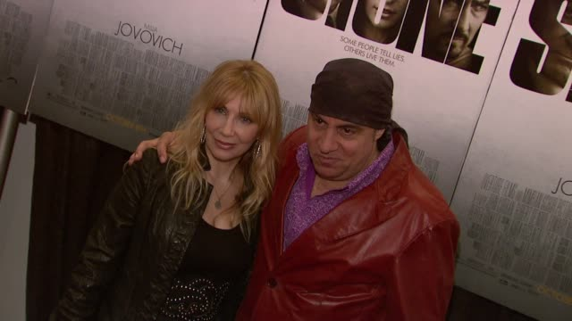 steven van zandt and guest at the 'stone' new york premiere - arrivals at new york ny. - スティーブン ヴァン ザント点の映像素材/bロール