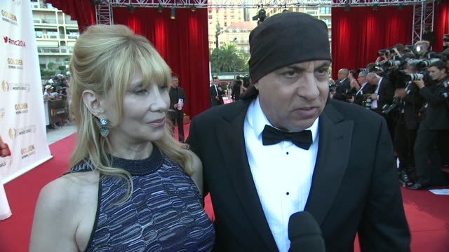steven van zandt on how he doesn't want to give a speech tonight at the 54th monte-carlo television festival - day 5 on june 11, 2014 in monte-carlo,... - スティーブン ヴァン ザント点の映像素材/bロール