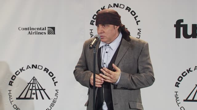 steven van zandt says when our heads get too big we should remember the artists of the 50's and 60's who started it all and didn't make a lot of... - スティーブン ヴァン ザント点の映像素材/bロール