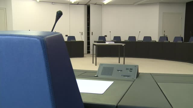 steven woolfe collapses in european parliament france strasbourg european parliament various of empty chairs in meeting room ext hospital buildings... - ジャッキー ロング点の映像素材/bロール
