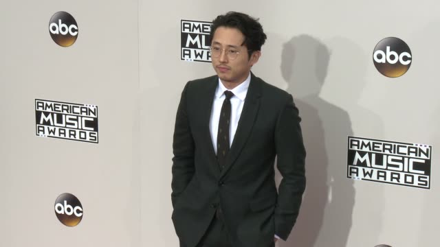 steven yeun at 2016 american music awards at microsoft theater on november 20 2016 in los angeles california - american music awards stock videos and b-roll footage