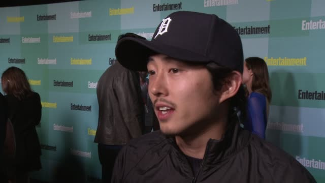 INTERVIEW Steven Yeun on the first thing he would do during a zombie apocalypse who will win in Batman vs Superman the last show he has binge watched...