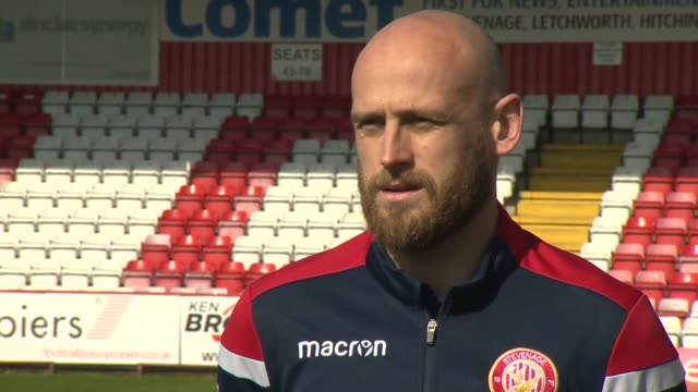 stevenage fc captain scott cuthbert saying it's good for the club to help the local community during the coronavirus crisis - support stock videos & royalty-free footage