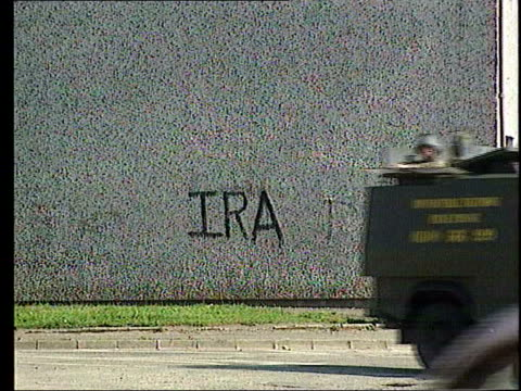 stevens report security forces implicated in killings news lib northern ireland belfast ext ms british army land rovers along on patrol past ira... - paratrooper stock videos & royalty-free footage