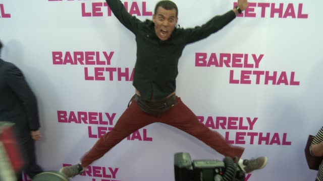 """steve-o at the """"barely lethal"""" los angeles premiere at arclight hollywood on may 27, 2015 in hollywood, california. - steve o stock videos & royalty-free footage"""