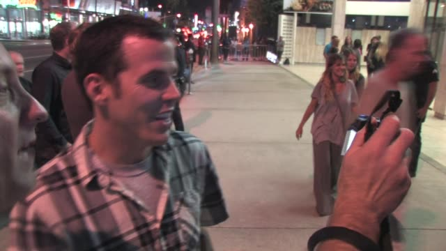 steve-o at the 'god bless ozzy osbourne' screening in hollywood on 8/22/2011 at the celebrity sightings in los angeles at los angeles ca. - steve o stock videos & royalty-free footage