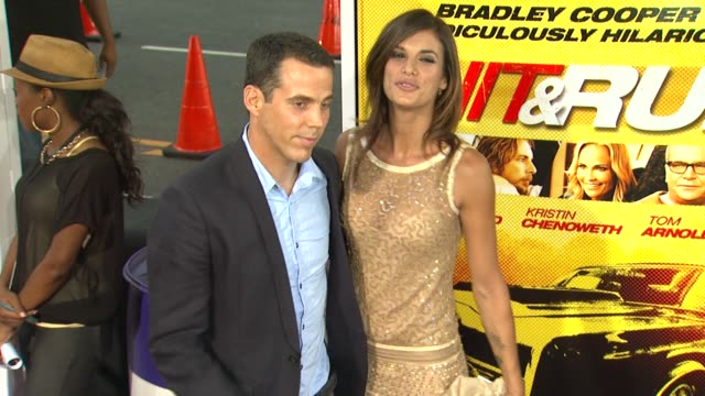 steve-o, elisabetta canalis at 'hit and run' premiere on 8/14/12 in los angeles, ca - steve o stock videos & royalty-free footage