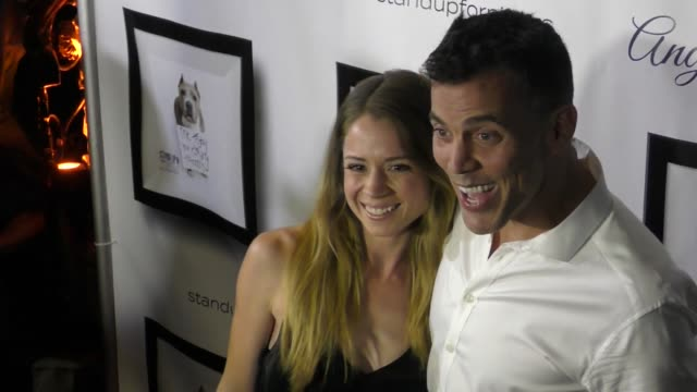 steve-o & lux wright at the 7th annual stand up for pits on november 05, 2017 in los angeles, california. - steve o stock videos & royalty-free footage