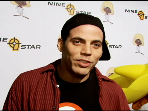 steve-o on seeing skateboarding, on hosting the event at the special preview of the new speedy gonzales collection on april 19, 2007. - steve o stock videos & royalty-free footage