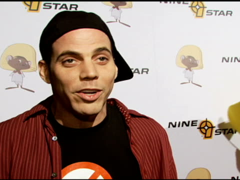 steve-o on whether he will perform this evening, on speedy gonzalez at the special preview of the new speedy gonzales collection on april 19, 2007. - steve o stock videos & royalty-free footage
