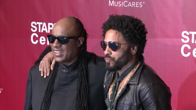 stevie wonder and lenny kravitz at the 2016 musicares person of the year honoring lionel richie at los angeles convention center on february 13 2016... - lionel richie stock videos & royalty-free footage