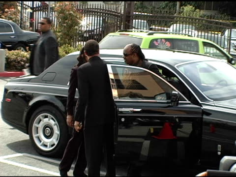 stevie wonder at the funeral of johnnie l cochran, jr arrivals at west angeles cathedral in los angeles, california on april 6, 2005. - johnnie cochran stock videos & royalty-free footage