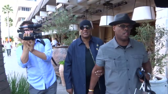 interview stevie wonder talks about working with eddie murphy while out in beverly hills on september 17 2019 at celebrity sightings in los angeles - eddie murphy stock videos & royalty-free footage