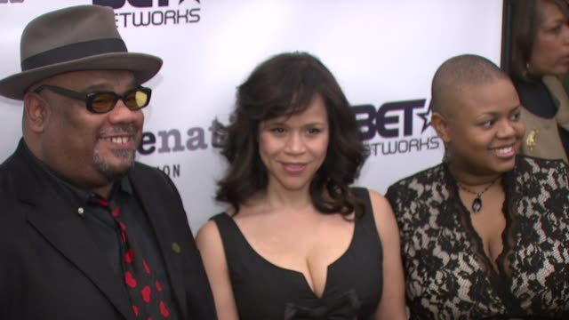 stockvideo's en b-roll-footage met stew, rosie perez and moikgantsi kgama at the imagenation presents - a 20th anniversary celebration of do the right at new york ny. - rosie perez