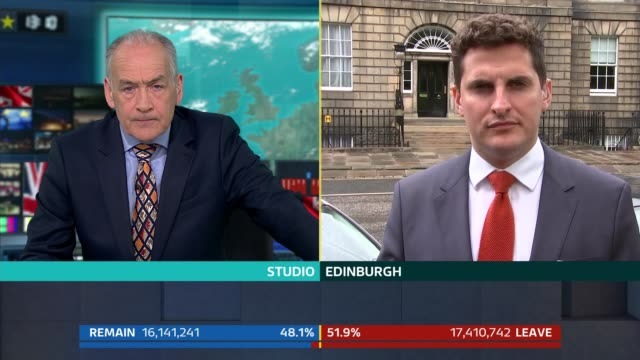 stewart sot split screen alastair stewart / peter smith in edinburgh edinburgh ext peter smith sot prof james mitchell interview sot - peter smith stock videos & royalty-free footage