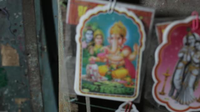 cu r/f stickers of hindu gods / india - klammer stock-videos und b-roll-filmmaterial