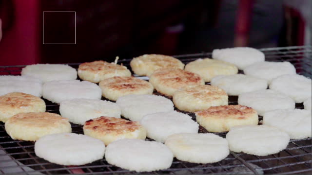 sticky rice grilled - rice ball stock videos & royalty-free footage