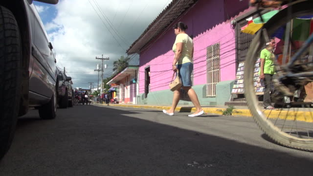 still of a busy street of rivas nicaragua - nicaragua stock videos & royalty-free footage