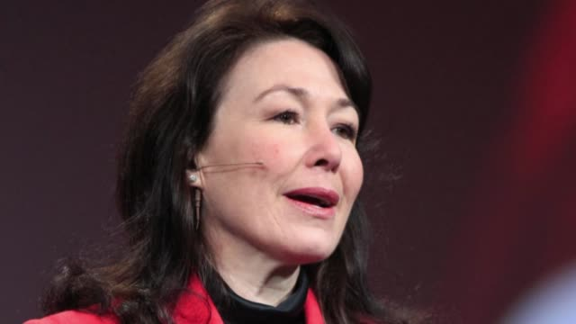still photo montage of new oracle co ceo safra catz all images taken from the bloomberg photo archive - oracle corporation stock-videos und b-roll-filmmaterial