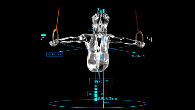 3D Still rings man with technical data