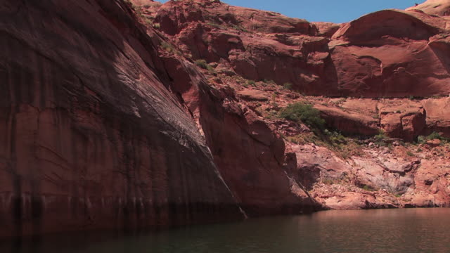 still water collects in an inlet of a canyon. - inlet stock videos & royalty-free footage