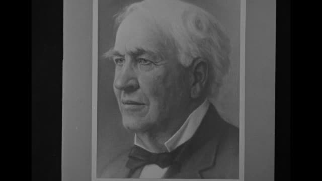 vs stills and portrait head shots of inventor thomas edison in his later life / cu 1931 western union telegram from edison sending regrets that he... - telegram stock videos and b-roll footage