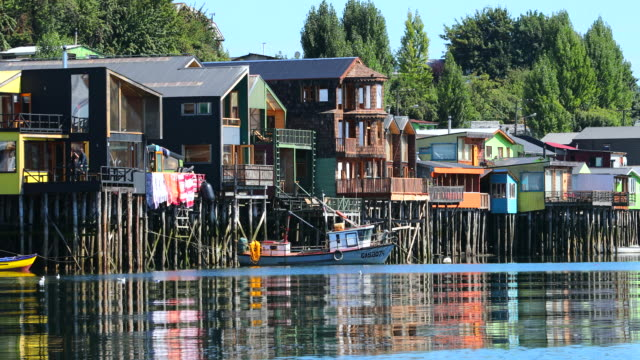 stilt houses - castro, chile - chile stock videos & royalty-free footage