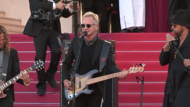 sting and shaggy perform on the red carpet after the closing ceremony of the cannes film festival 2018 also there spike lee and his grand prix award... - 71st international cannes film festival stock videos & royalty-free footage
