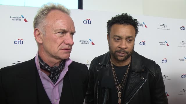 INTERVIEW Sting and Shaggy talk about having the Grammys in New York this year at Universal Music Group's 2018 After Party for the Grammy Awards...