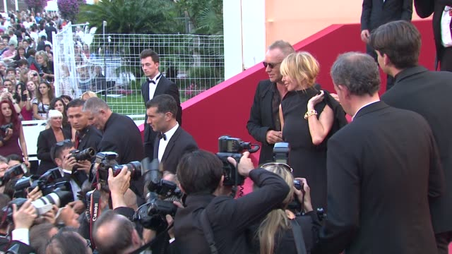 sting and trudie styler at mud premiere: 65th cannes film festival at lumiere on may 26, 2012 in cannes, france - trudie styler stock videos & royalty-free footage