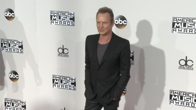 sting at 2016 american music awards at microsoft theater on november 20 2016 in los angeles california - american music awards stock videos and b-roll footage
