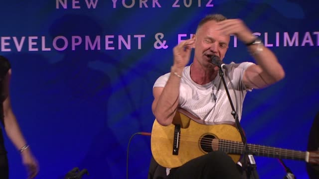 sting at cinema for peace new york 2012 gala honoring sting, trudie styler & the rainforest fund with 'green oscar' at the harvard club on september... - trudie styler stock videos & royalty-free footage