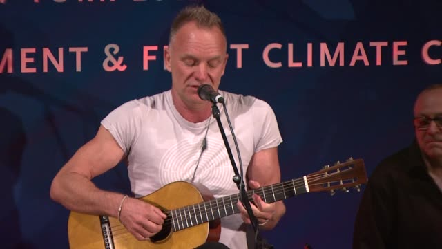 sting at cinema for peace new york 2012 gala honoring sting, trudie styler & the rainforest fund with 'green oscar' at the harvard club on september... - trudie styler stock-videos und b-roll-filmmaterial