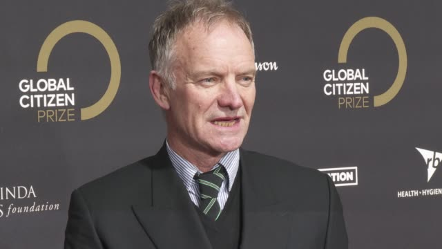 sting at global citizen prize at royal albert hall on december 13, 2019 in london, england. - royal albert hall点の映像素材/bロール