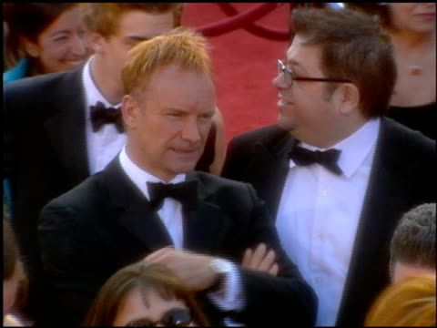 sting at the 2001 academy awards at the shrine auditorium in los angeles, california on march 25, 2001. - 第73回アカデミー賞点の映像素材/bロール
