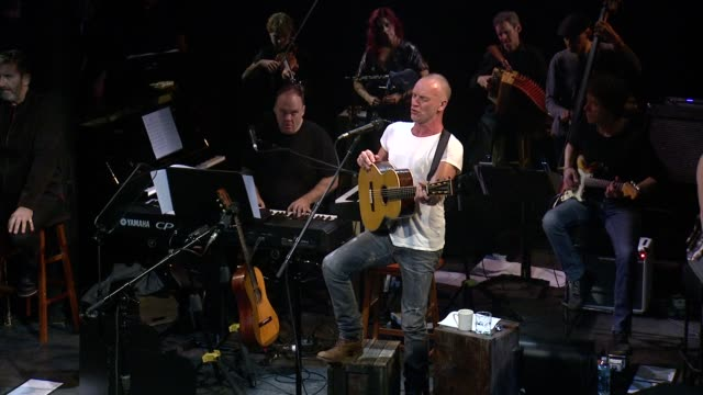 performance sting performs the last ship sting the last ship to benefit the public theater at the public theater on september 25 2013 in new york new... - benefiz veranstaltung stock-videos und b-roll-filmmaterial