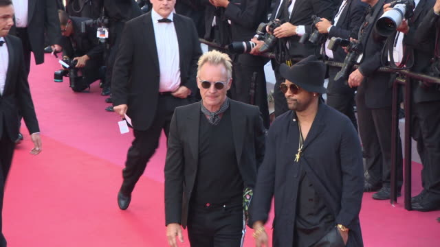sting, shaggy at 'the man who killed don quixote' red carpet arrivals - closing film at the 71st annual cannes film festival at grand theatre lumiere... - 歌手 シャギー点の映像素材/bロール