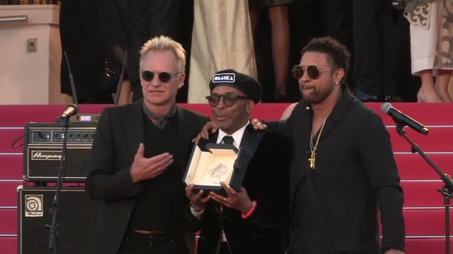 Sting Shaggy Spike Lee and his Grand Prix award for BlacKKKlansman Roberto Benigni Edouard Baer and more on the red carpet after the Closing Ceremony...