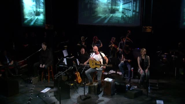 sting: the last ship - to benefit the public theater at the public theater on september 25, 2013 in new york, new york - benefiz veranstaltung stock-videos und b-roll-filmmaterial