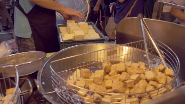 Stinky tofu at night market in Taipei, Taiwan