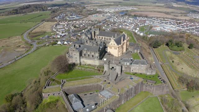 stirling castle in stirling, scotland, uk - stirling stock videos & royalty-free footage